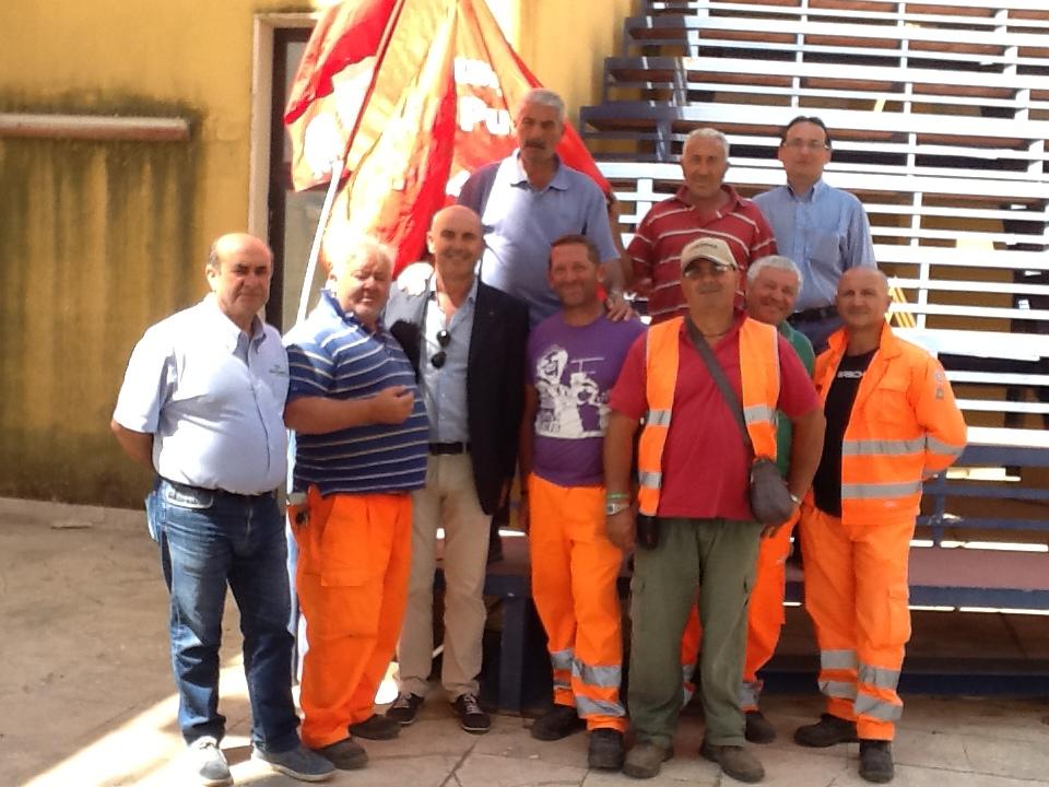Santa Ninfa: protestano i lavoratori di Belice Ambiente