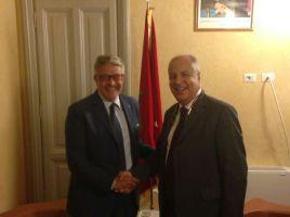 Da dx Ambasciatore Marocco Abouyoub e presidente Distretto Pesca Tumbiolo (1)