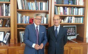 Da dx Ambasciatore Michele Valenzise-Presidente Distretto Tumbiolo