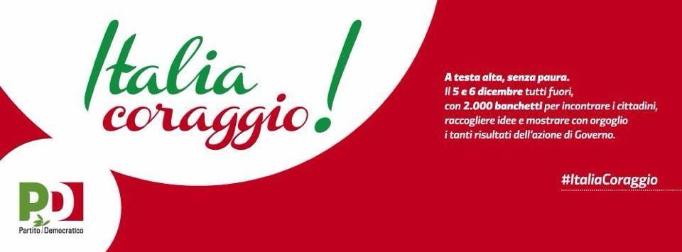 """""""Italia, coraggio!"""": a Campobello di Mazara ritorna il banchetto targato Pd"""""""