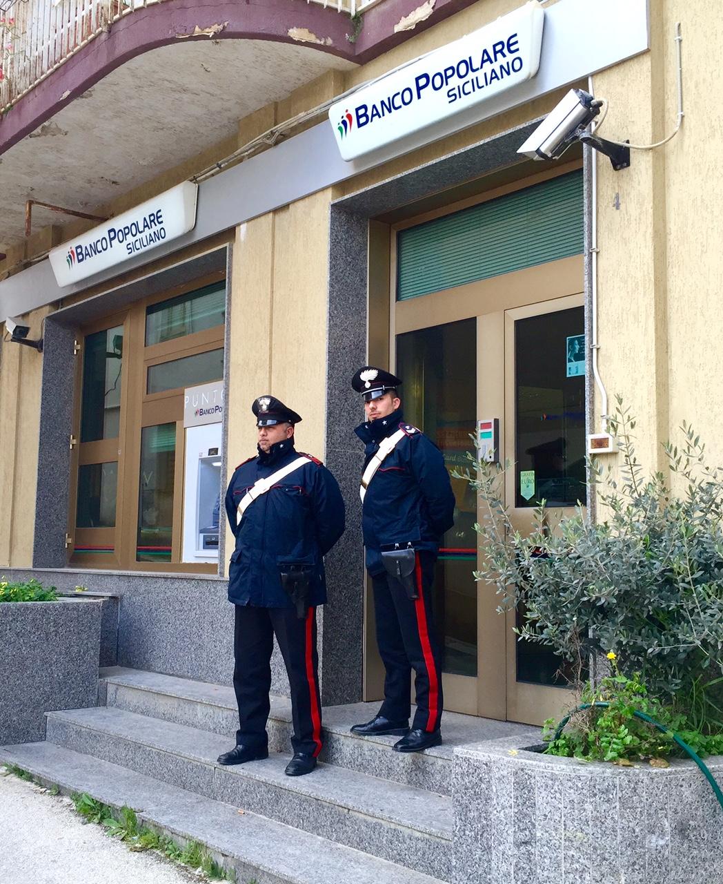 [Cc] Salemi, rapina in banca: arrestati tre ladri all'interno dell'istituto di credito