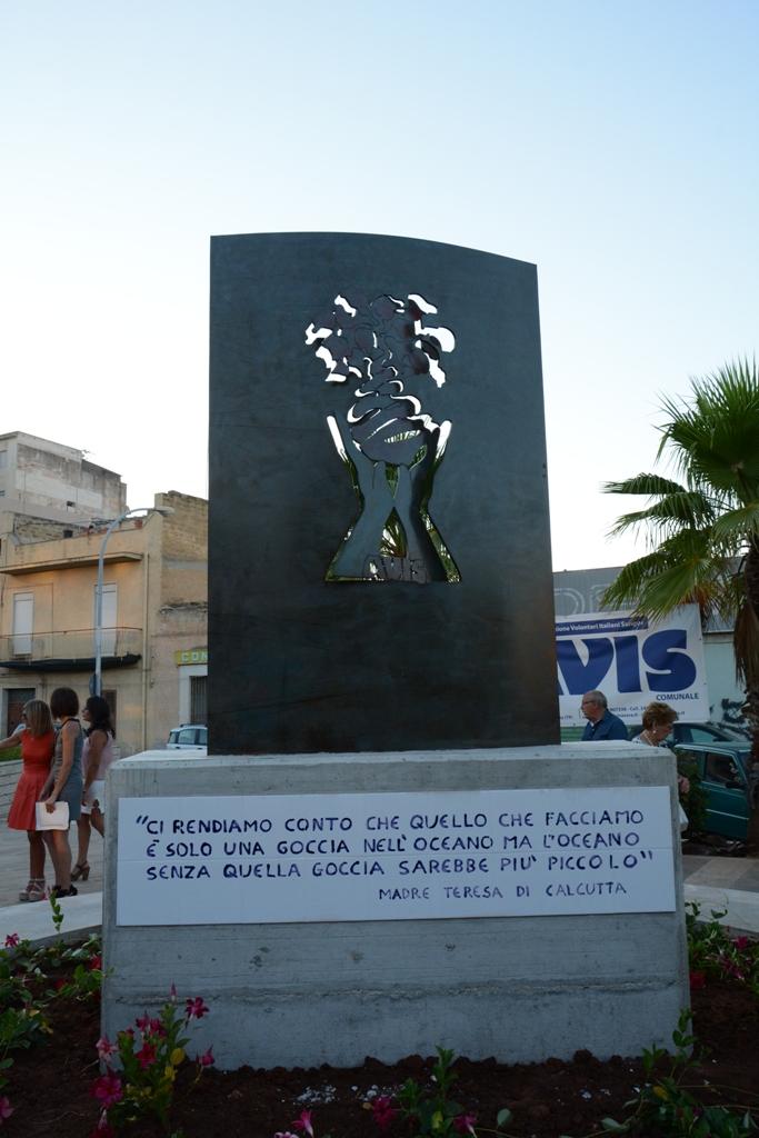 Mazara, Inaugurato il monumento al Donatore