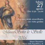 museo sotto le stelle 2016