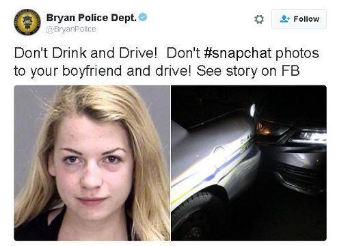 19enne si scatta selfie in topless e tampona auto della polizia: arrestata