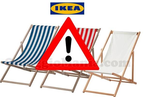 Ikea ritira dal mercato una sdraio campobello news for Ikea sdraio