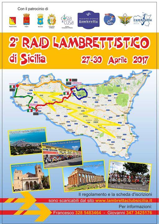 """Trapani. Al via il """" 2° Grand Fondo """"Raid Lambrettistico di Sicilia"""": domenica tappa a Campobello di Mazara"""