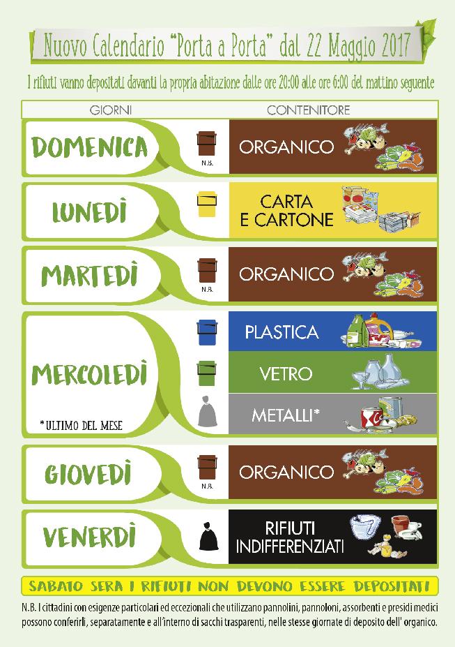Raccolta Differenziata Palermo Calendario.Campobello Differenziata Si Cambia Da Lunedi 22 Maggio In