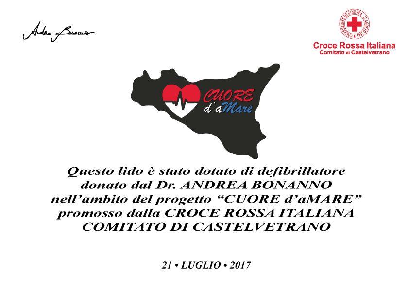 """CASTELVETRANO. CRI: PROGETTO """"Cuore d'aMare"""""""