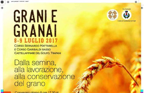 """Castellammare del G. – """"I grani siciliani: verso un futuro di salute, cultura e sviluppo del territorio"""""""