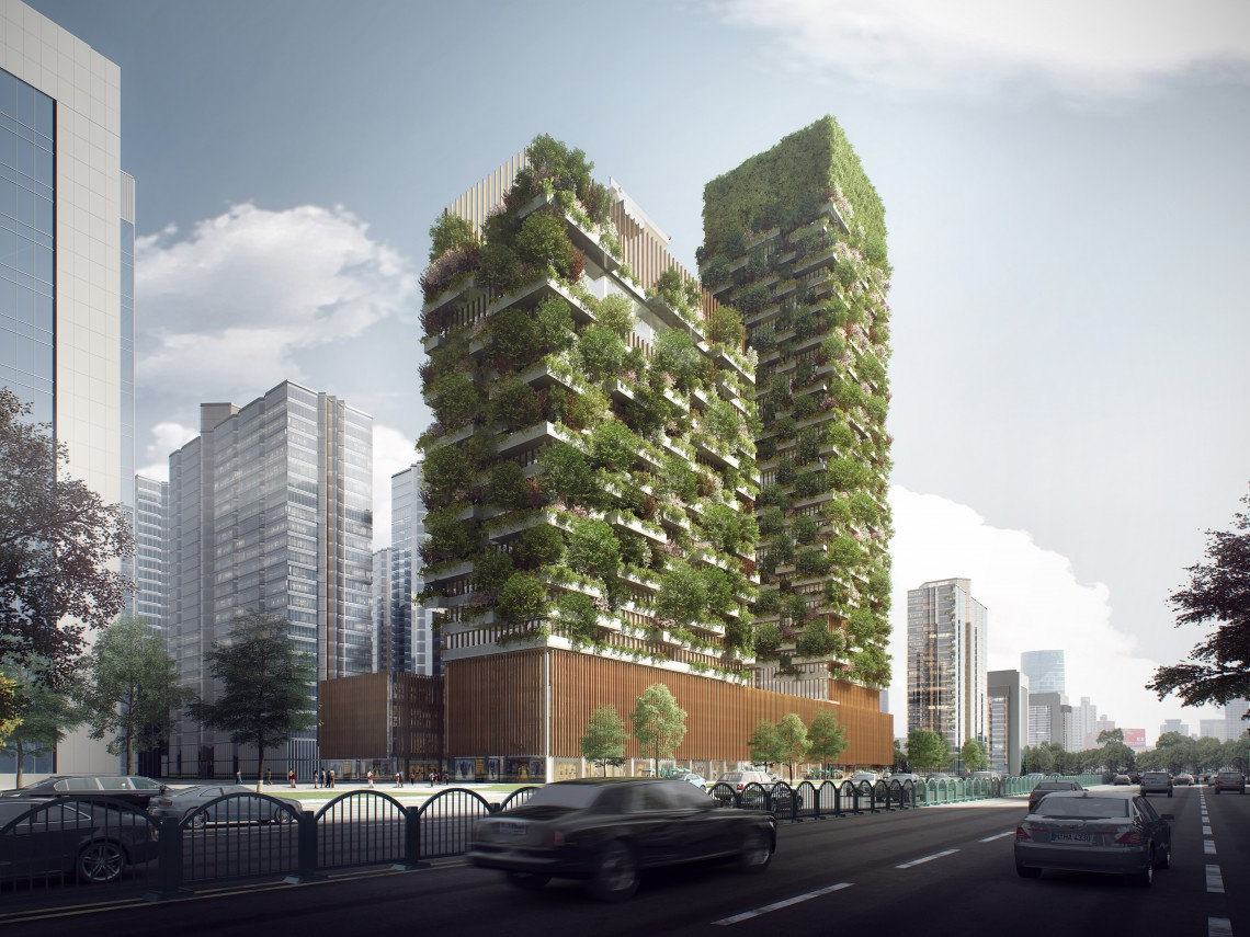 [Architettura sostenibile]  Boschi verticali: polmoni verdi nelle città industrializzate