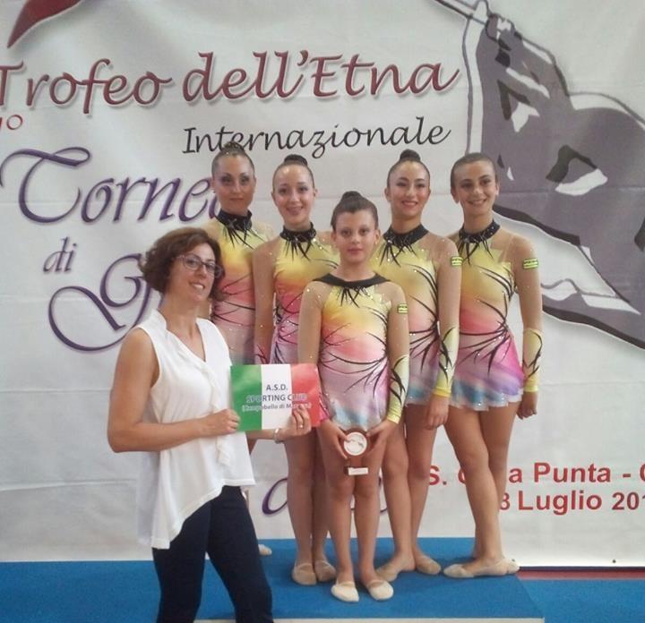 [Ginnastica ritmica] Al 7° Trofeo Internazionale dell'Etna risultati positivi per lo Sporting Club