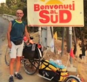 Arrivato a Campobello di Mazara Gino Piludu. In bici da Varese a Marsala per promuovere la donazione del sangue