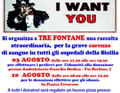 Campobello: Emergenza Sangue domani  BLOOD TOUR SUMMER EDITION 2017 Tre Fontane