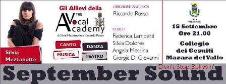 MAZARA, SEPTEMBER SOUND CON SILVIA MEZZANOTTE E GLI ALLIEVI DELLA THE VOCAL ACADEMY [VIDEO]