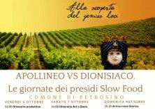 """""""Apollineo versus Dionisiaco. Le giornate dei presidi Slow Food della Provincia di Trapani""""."""