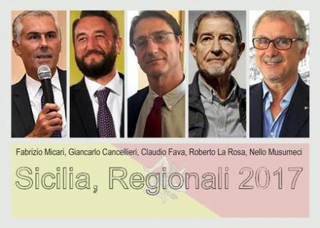 Elezioni Regionali Sicilia, corsa a cinque per la presidenza