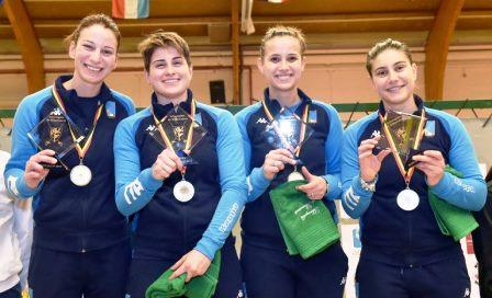 [SCHERMA] –Medaglia d'oro per la squadra azzurra di cui fa parte la castelvetraneseLoreta Gulotta.