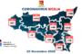 #CoronavirusSicilia (28 novembre 2020) 1.189 nuovi positivi e 43 morti. Provincia Trapani +67